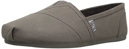 - Skechers BOBS Women's Bobs Plush-Peace & Love Flat, Charcoal, 8 W US