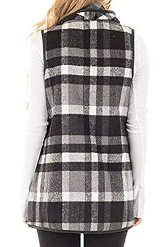 Vert Cardigan D'automne Coton Taille Femmes De Manteaux Décontracté Oudan Small Gris coloré Occasionnels SfHqWznXZ