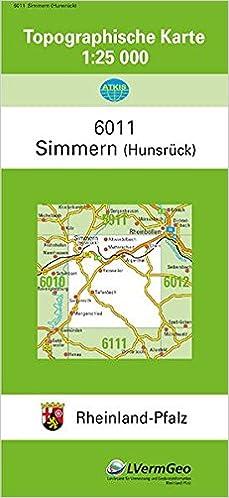 Hunsrück Hochwald Karte.Tk25 6011 Simmern Hunsrück Topographische Karte 1 25000