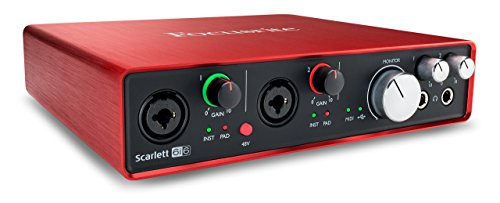 Focusrite Scarlett 6i6 (2nd Gen) USB Audio Interface with Pro Tools | First (Renewed)