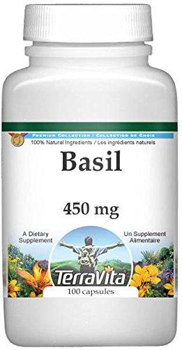 Basil - 450 mg (100 Capsules, ZIN: 511888) - 2 Pack by TerraVita (Image #1)