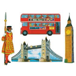 British Cutouts Party Accessory (1 count) (4/Pkg) (British Theme Party Supplies compare prices)