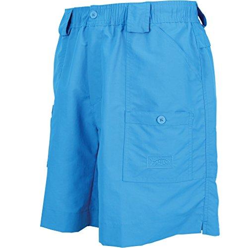 AFTCO Original Fishing Shorts Long,Vivid Blue,36 Aftco Nylon Shorts