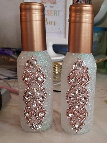 Motivo Floreale per Abito da Sposa Cinta Decorativa con Strass 2PCS