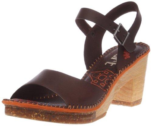 Zapatos Marrón Tobillo Para Con Cuero Amsterdam brown Mujer De Correa 0325 Art braun BwvUqnFRv