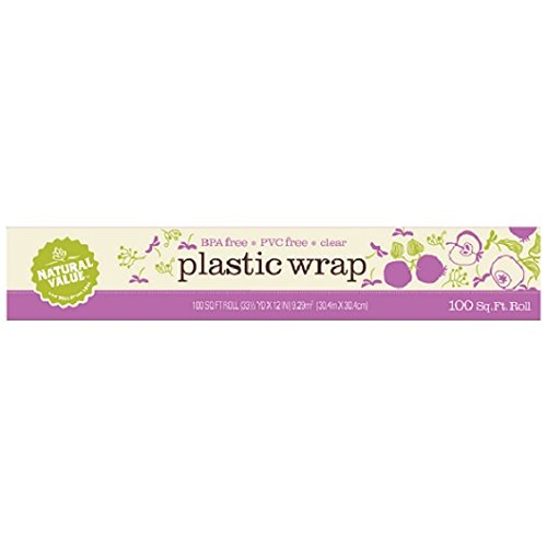 Natural Value Clear Plastic Wrap, 100 ft