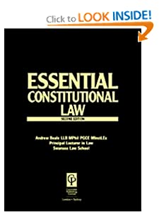 Constitutional Law (Essential) Andrew Beale, Nicholas Bourne
