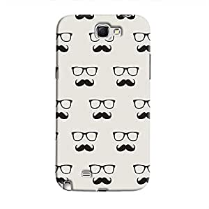 Cover It Up - Hipster Stickers Galaxy Note 2 N7100Hard Case