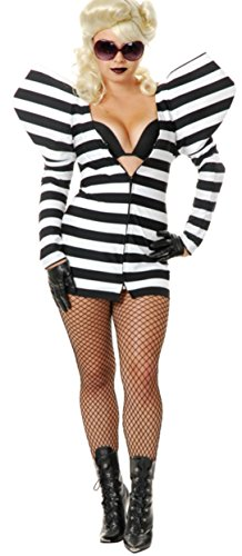 Charades Womens Lady G Prison Dress Costume Large -