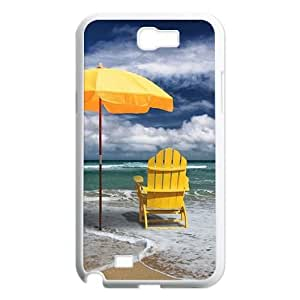 Yellow Umbrella DIY Case Cover for Samsung Galaxy Note 2 N7100 LMc-98353 at LaiMc