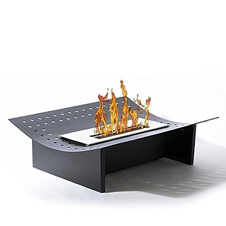 Inserción Ada-Chimenea de mesa de etanol (Sartén ecológico, colocar el suelo, mobile, portátil, de mesa, mini estufa) bio: Amazon.es: Hogar