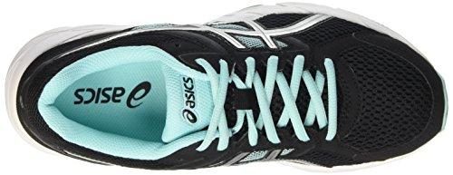 Asics Gel-Contend 3, Zapatillas de Gimnasia para Mujer Negro (black/lightning/aruba Blue)