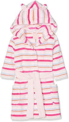 Cream Multi Stripe Joules Teddy With Ears Girls Underwear Dressing Gown