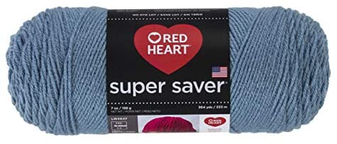 Red Heart E300.0382 Super Saver Yarn Cntry Blue