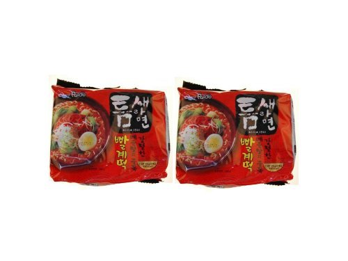 Teumsae Ramen(빨계떡) Bag- 4.23 Oz 10 Packs by Paldo