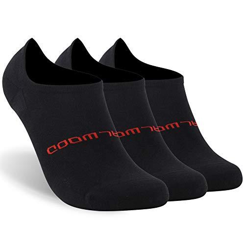 ZEALWOOD No Show Running Socks Unisex Cushion Hidden Comfort Athletic Running Socks,3 Pairs Black M by ZEALWOOD