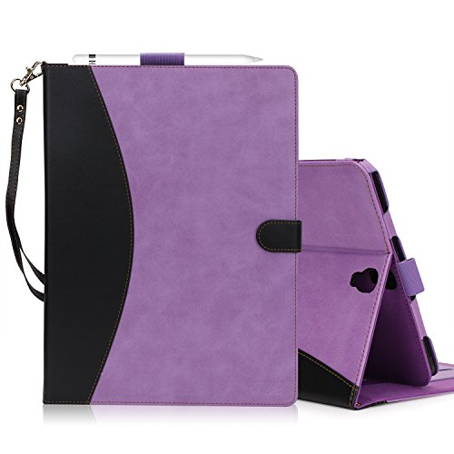 FYY Case for Samsung Galaxy Tab S3 9.7 - Premium PU Leather Case Stand Cover with Card Slots, Note Holder, Hand Strap for Galaxy Tab S3 9.7'' Purple (With Auto Wake/Sleep) by FYY