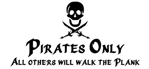 Pirate Decals - Empresal Pirates Only Boys Skull Vinyl