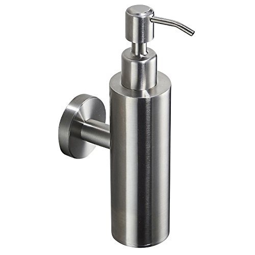 BigBig Home Manual Soap Dispenser Holder Modern Style Bathroom Accessories, 304 Stainless Steel Brushed Nickel Finish Wall Mounted Soap Dispenser 17oz/500ML For Bathroom Kitchen Hotel Restaurant -