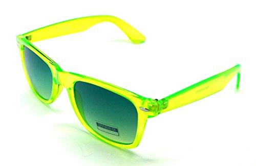 Wayfarer Espejo Mujer Traslucido Sol Gafas Sunglasses de Hombre Verde HwYxaqf1n