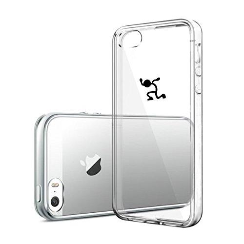 Vanki® iPhone 5/5S/SE Funda, Protectiva Carcasa de Silicona de gel TPU Transparente, Ultra delgada, , Amortigua los golpes Case Cover Para iPhone 5/5S/SE-Pandas y elefantes 5
