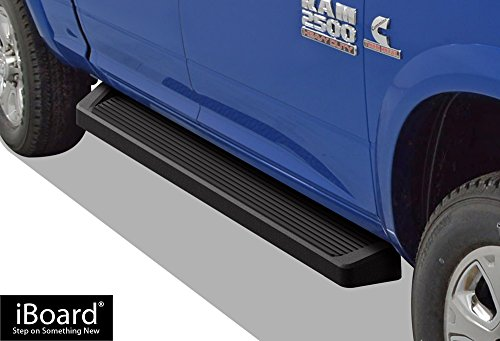APS iBoard Black Running Boards Style Custom Fit 2009-2018 Dodge Ram 1500 Crew Cab Pickup 4-Door & 2010-2020 Ram 2500 3500 (Exclude Chassis Cab with Diesel Models) (Nerf Bars Side Steps Side Bars)