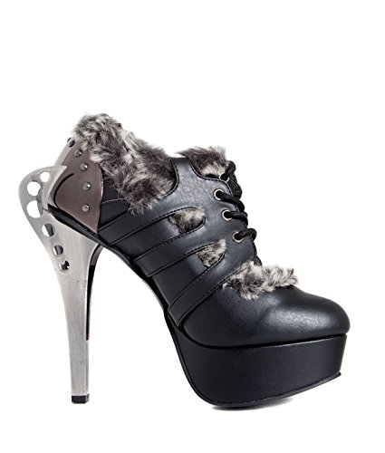 Flame Hades Shoes Black Buckles Monarch Shoes Steampunk wTtqAHT