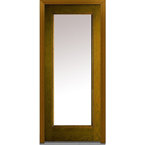 National Door Company Za00198l Fiberglass Oak Prehung Left Hand