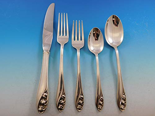 Gorham Sterling Silver Flatware - Lily of the Valley by Gorham Sterling Silver Flatware Set for 8 Service 40 pcs