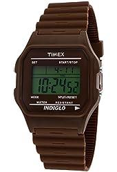 Unisex Timex T2N212@Brown Digital Watch