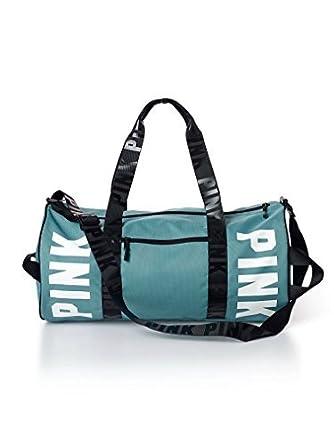 3053a3b6d827 Victoria s Secret PINK Gym Duffle Tote Bag (Black Gradient)