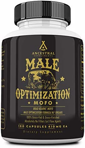 Mofo is Ancestral Supplements Male Optimization Formula W Organs Mofo Supports Testosterone, Prostate and Heart Health 180 Capsules