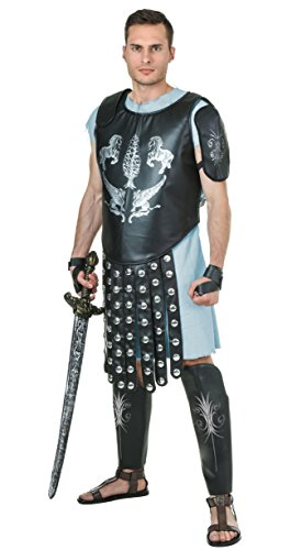 Gladiator Costume for Adult Men, Halloween Warrior Cosplay Outfit Masquerade Accessory (One Average Size)