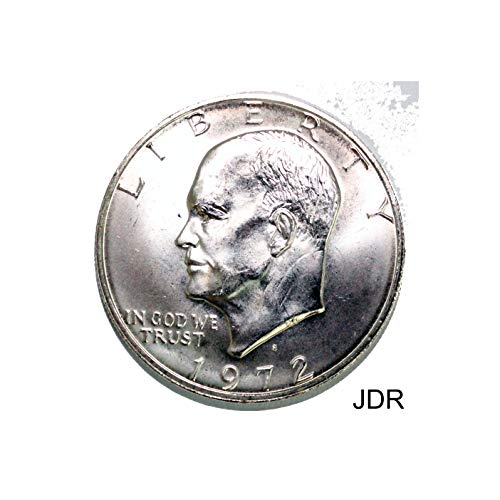 - 1972 S IKE Dollar Silver $1 BU