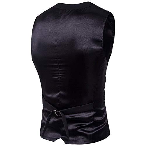 Plus Formale Casual Moderna Size Fit Da Vest Patchwork Uomo Nuovo Abito Vestaglia Schwarz Haidean Slim z4IqSB0