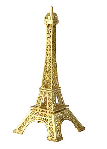 - JoyFamily Eiffel Tower Decor,7Inch (18cm) Metal Paris Eiffel Tower Statue Figurine Replica Drawing Room Table Decor Jewelry Stand Holder for Cake Topper,Gifts,Party And Home Decoration