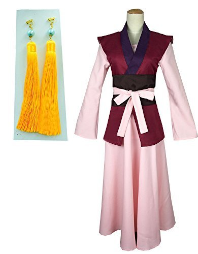 Onecos Akatsuki No Yona Yona Suit + Earrings Cosplay Costume