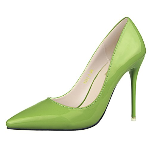Pointed Toe Work Shoes Dress Pump-green-39 ()