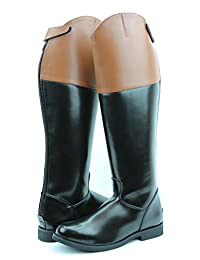 Hispar Royal Women Ladies Fox Hunting Hunt Dress Boots with Back Zipper Tan Top