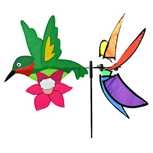 Midwest Design Imports, Inc. Rainbow Hummingbird Garden Spinner Flag - 39 in from Midwest Design Imports, Inc.