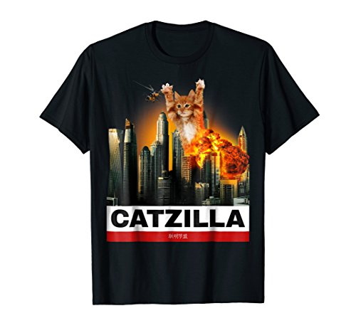 CATZILLA - Funny Kitty Tshirt for Cat lovers to Halloween