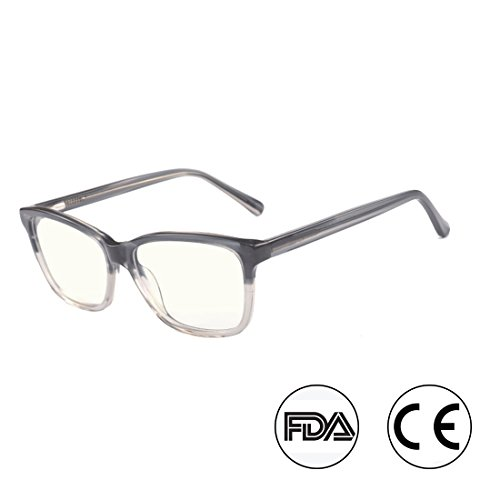 Kirka Blue Light Blocking Glasses Gamer Glasses and Computer Eyewear Anti-Glare Protection Anti-Fatigue Anti UV Glasses for Smartphone Screens, Computer or TV