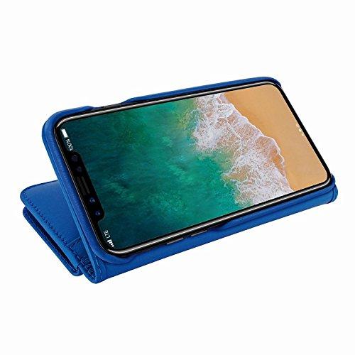 Piel Frama 793 Blue WalletMagnum Leather Case for Apple iPhone X by Piel Frama (Image #5)