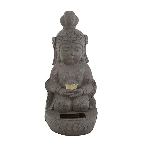 Fifteendegrees Solar Lil' Buddha with Gowing Ball (Yellow Lotus)