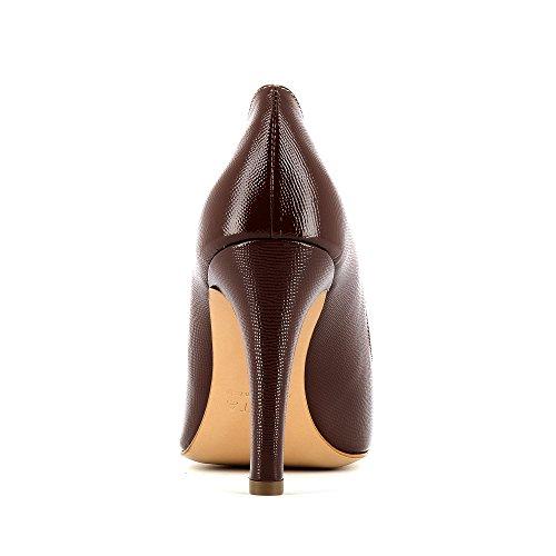 Evita Shoes Cristina Damen Pumps Lack mit Prägung Fango