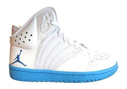 low priced 4992d 2283a Galleon - NIKE Air Jordan 1 Flight 4 PREM Mens Hi Top Basketball Trainers  838818 Sneakers Shoes (US 7.5, White University Blue White 141)