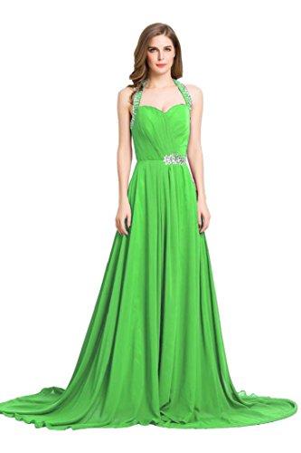 lichtgrün schulterfreies Beauty mit Sweep Abendkleid Rüschen Emily formale lange Schleppe Rcqwpqz5C