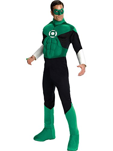 Green Lantern Deluxe Costume, Green, Medium ()