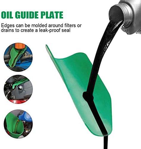 Parayung Strumento Flessibile di drenaggio dellolio Imbuto Resuable Water Oil Guide Plate Pieghevole per Uso Generico Filtro dellolio Senza Imbuto per motocicli Auto Camion S - 37x17cm