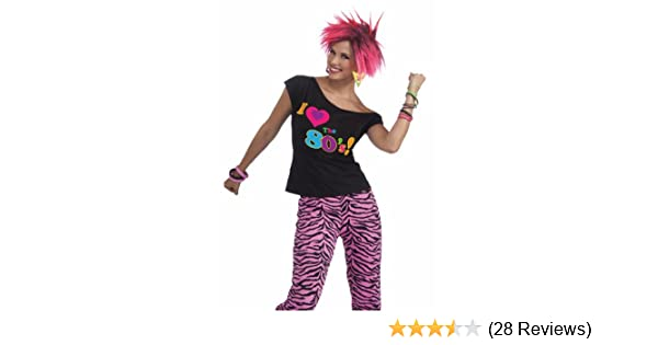 27c623268e520 Amazon.com: Forum Novelties Women's 80's Remix Costume Shirt: Clothing